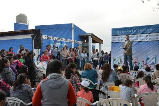 Se inauguraron las remodelaciones en el Centro Comunitario de Alta Barda