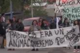 Familiares y amigos de Pablo Vera marcharon en contra de la liberación del policía Jorge Villegas