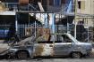 ROCA – Se prendió fuego un auto en las 827 viviendas