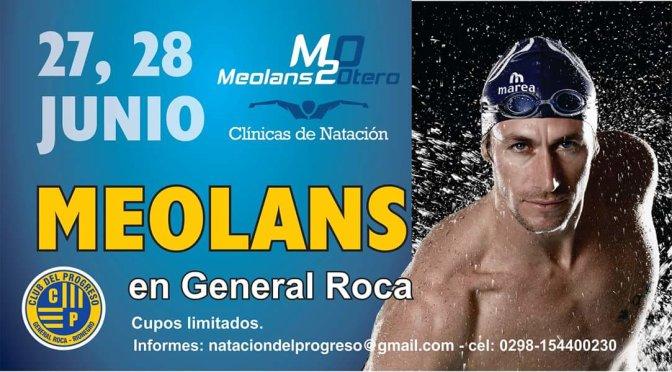 JOSE MEOLANS en GENERAL ROCA , dictará una CLINICA de NATACION