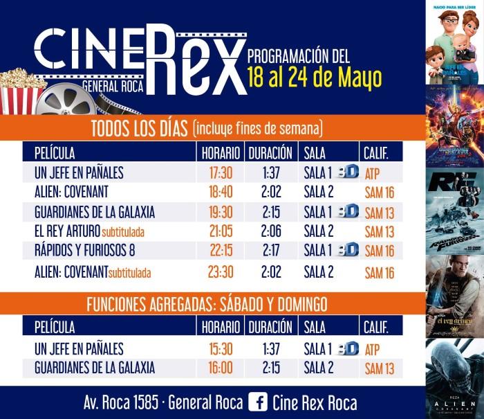 Cartelera cine rex 18 al 24 de mayo - Cartelera cine de verano aguadulce ...